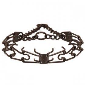 """Dark Delight"" Herm Sprenger Black Finish Prong Dog Collar 3.25mm Large"
