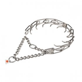 """Anti-Aggression"" Stainless Steel Dog Pinch Collar 4 mm Wire Gauge"