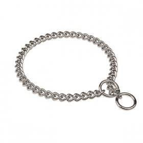 """Great Hugger"" XL Dog Choke Collar of 4 mm Chrome-Plated Wire"