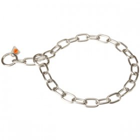 """Training Joy"" Stainless Steel Fur Saver Choke Chain of 3 mm Wire Gauge"