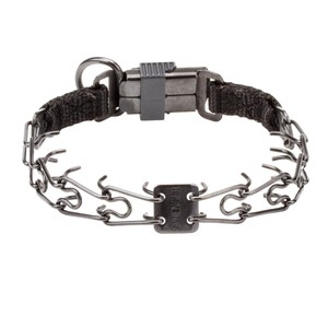 """Good Doggy Kit"" Herm Sprenger Black 2.25 mm Dog Prong Collar with Buckle"
