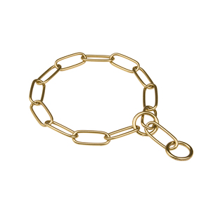 """Golden Maestro"" Brass Fur Saver Choke Chain for Dogs, 4 mm Wire Gauge"