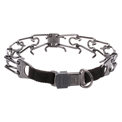 Black 2.25 mm Dog Prong Collar with Buckle