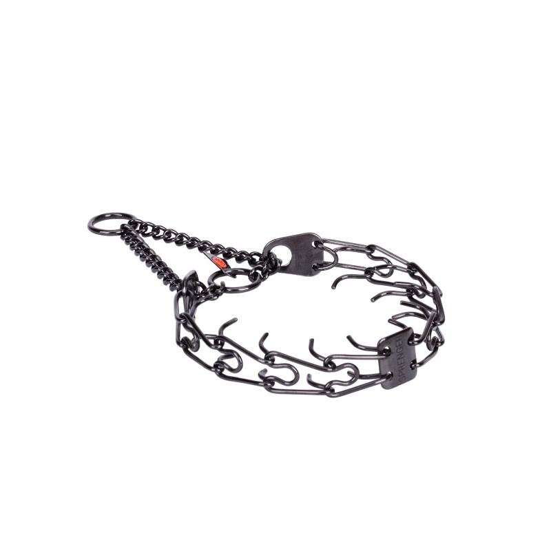 Black 2.25 mm Dog Prong Collar